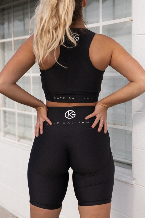 black shorts set