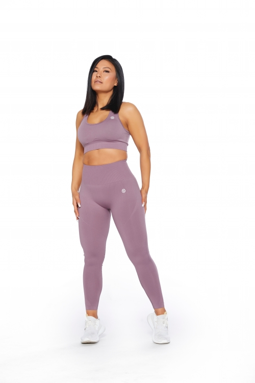 seamless dusty pink leggings set