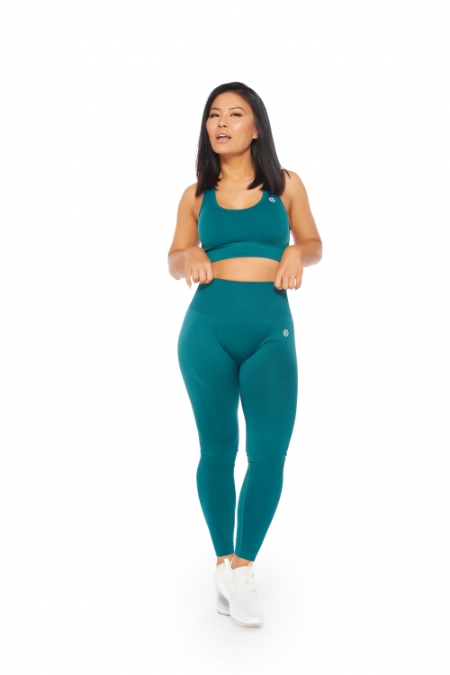 dark green seamless activewear set