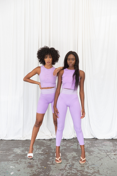 rich lilac bike short leggings set